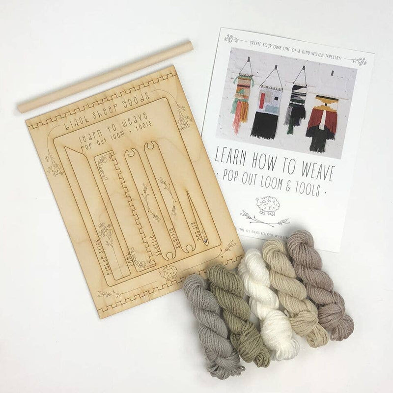 Tapestry Weaving Kit - Natural - by Black Sheep Goods