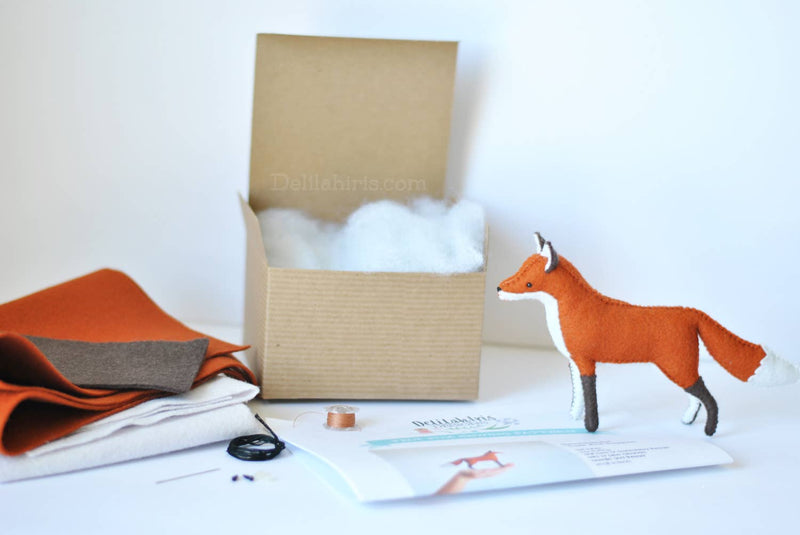 DelilahIris Designs - Felt Fox Craft Kit