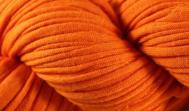 Recycled T-Shirt Yarn- Orange