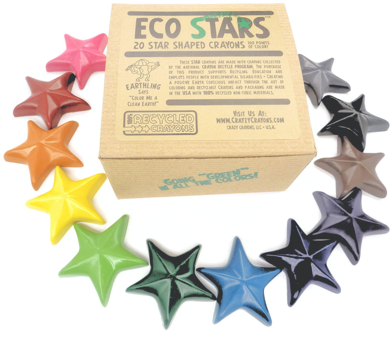 Crazy Crayons - Eco Stars Crayon - Box of 20