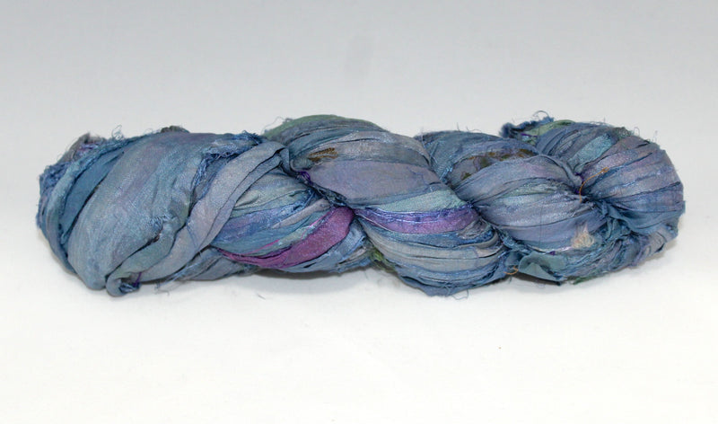 Recycled Sari Silk Ribbon - May Flowers