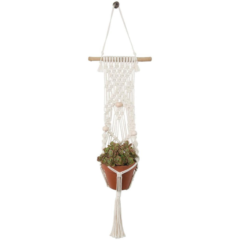 Macramé Plant Hanger Kit - Beads - by Solid Oak