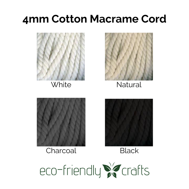 Cora's Cotton Macrame Cord - 4mm - 75 foot length