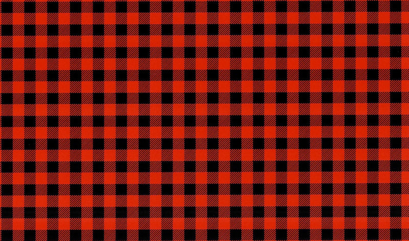 Red Buffalo Plaid Pattern Heat Transfer Vinyl and Carrier Sheet- Small Print