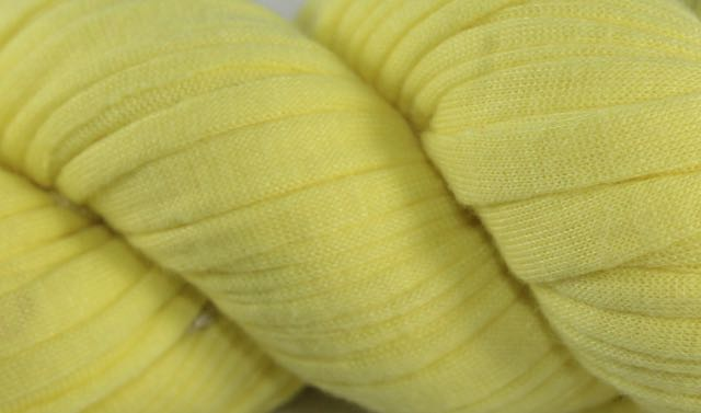 Recycled T-Shirt Yarn- Pale Yellow