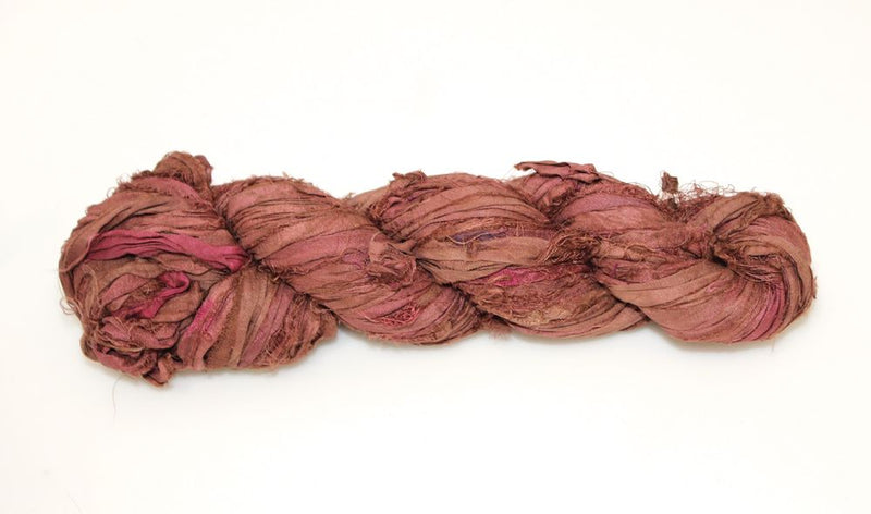 Recycled Sari Silk Ribbon - Taupe