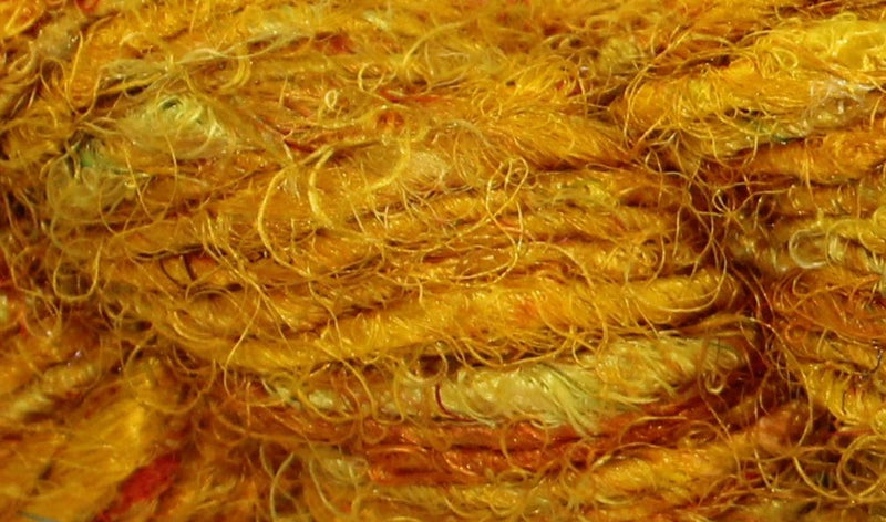 Recycled Sari Yarn- Sunflower