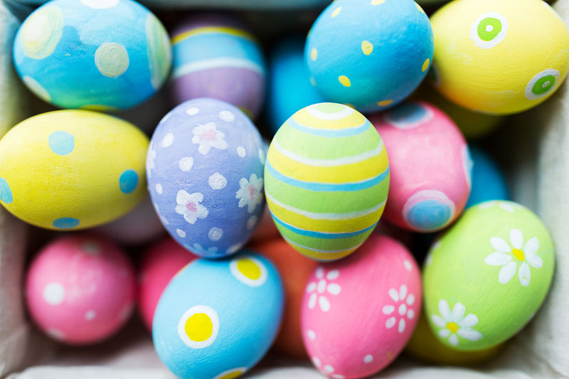Wooden Easter Eggs and Natural Earth Paint Kit