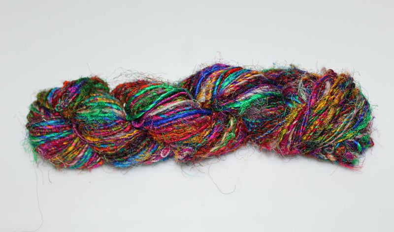 Recycled Sari Silk Yarn - Rainbow