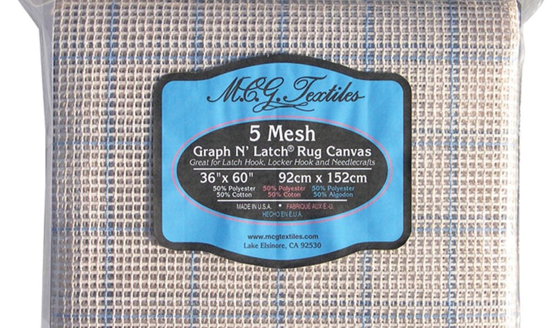 MCG Textiles 36 x 60-inch 5 Mesh Graph-n-Latch Rug Canvas