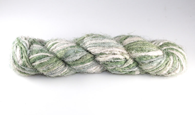Recycled Sari Silk Yarn - Clover