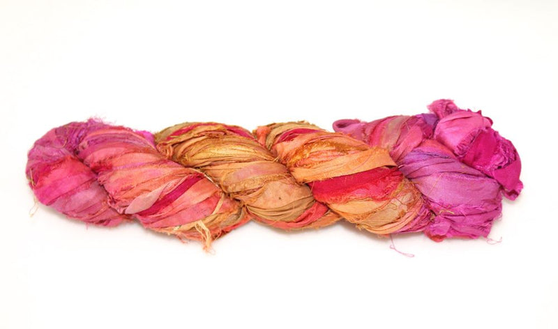 Recycled Sari Silk Ribbon- Gypsy