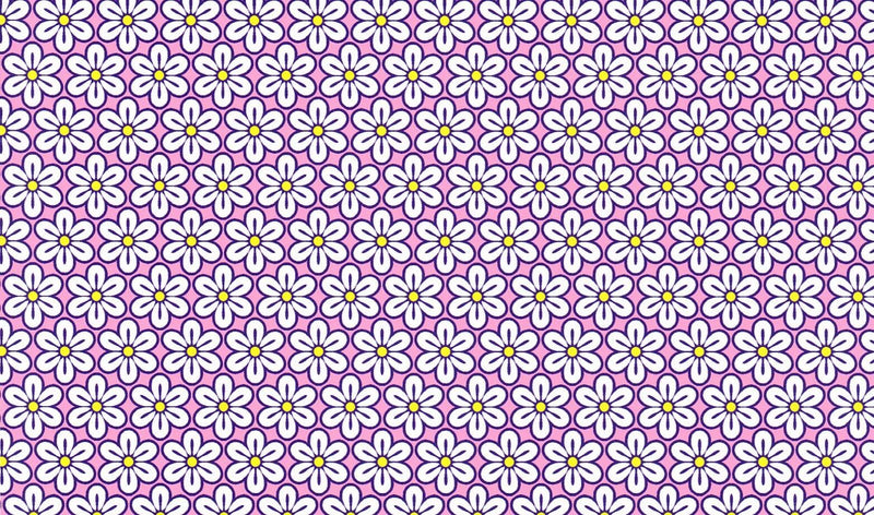 Purple Daisy Pattern Heat Transfer Vinyl