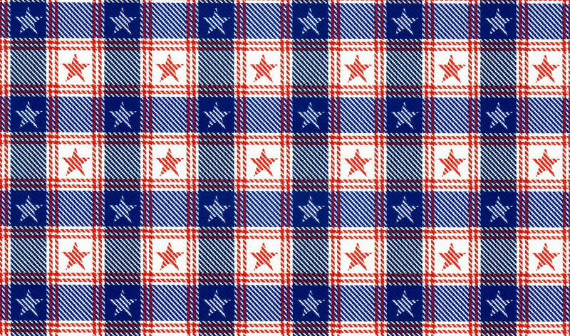 Patriotic Buffalo Plaid Heat Transfer Vinyl and Carrier Sheet