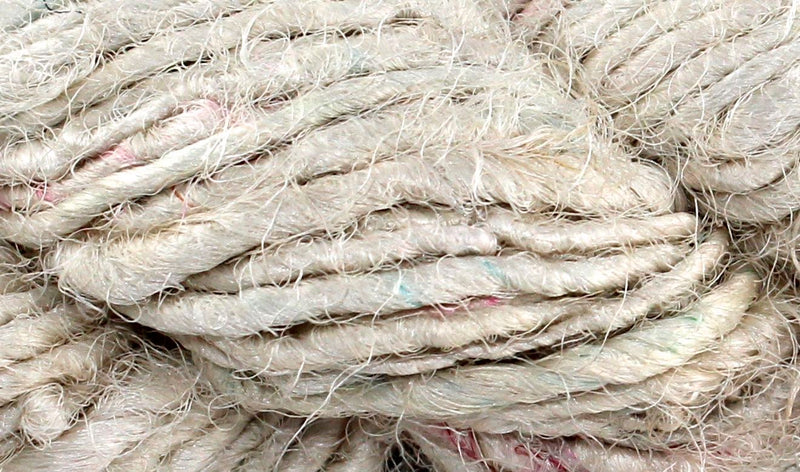 Recycled Sari Yarn- Natural White