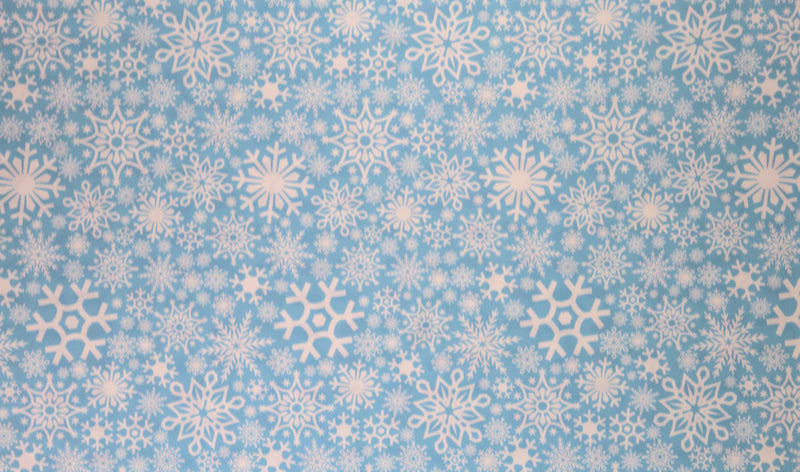 Snowflakes Pattern Heat Transfer Vinyl and Carrier Sheet