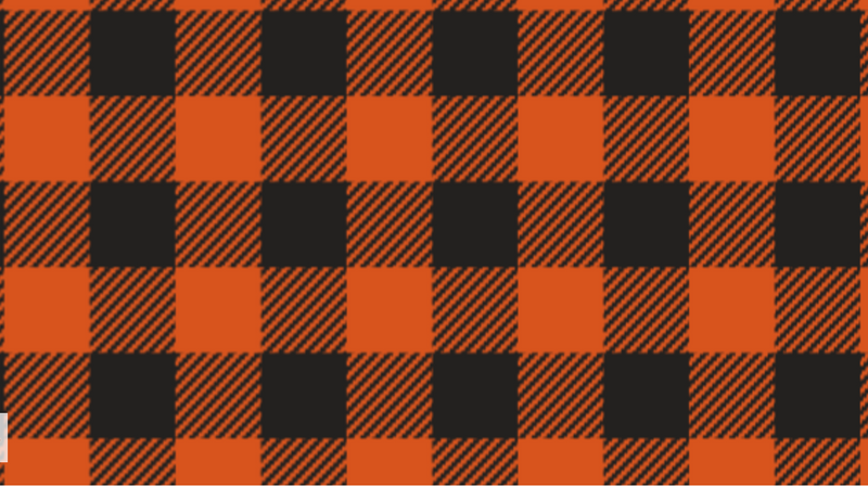 Orange Buffalo Plaid Heat Transfer Vinyl and Carrier Sheet