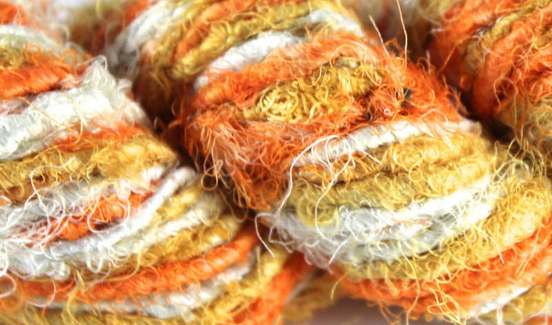 Recycled Sari Silk Yarn - Candy Corn