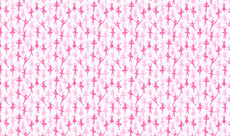 Ballet Dancer Pattern Heat Transfer Vinyl - Pink Ballerina