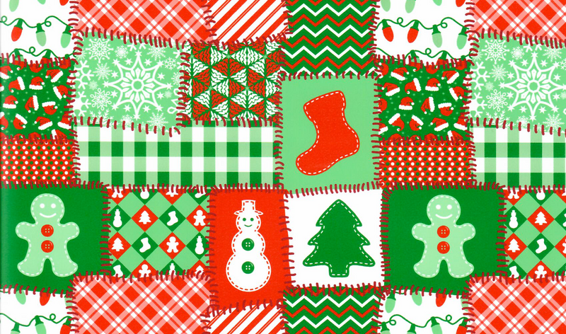 Patchwork Christmas Heat Transfer Vinyl
