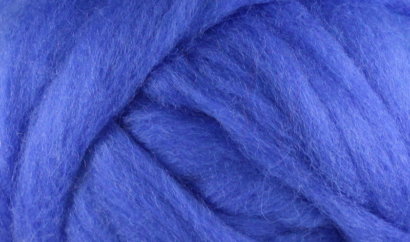 Wool Roving - 1oz - Cobalt Blue