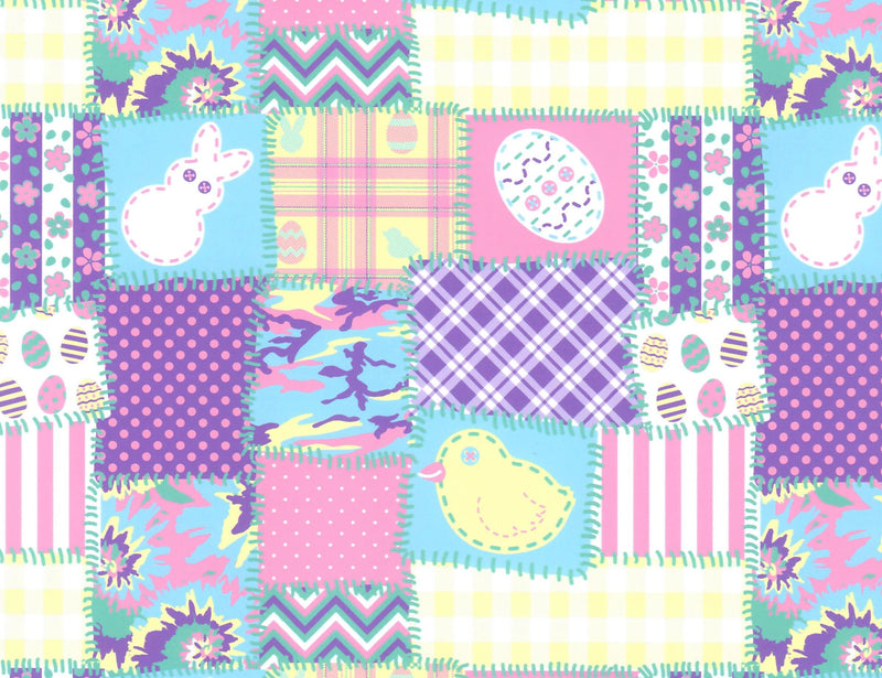 Easter Patchwork Pattern - Heat Transfer Vinyl and Carrier Sheet