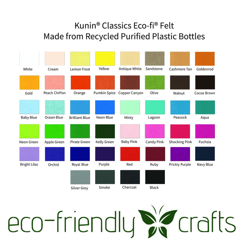 Eco-fi Classic Felt - Made from Post-Consumer Recycled Plastic Bottles
