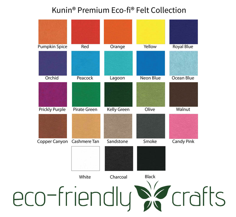 Eco-Fi Premium Felt - Made From Recycled Water Bottles