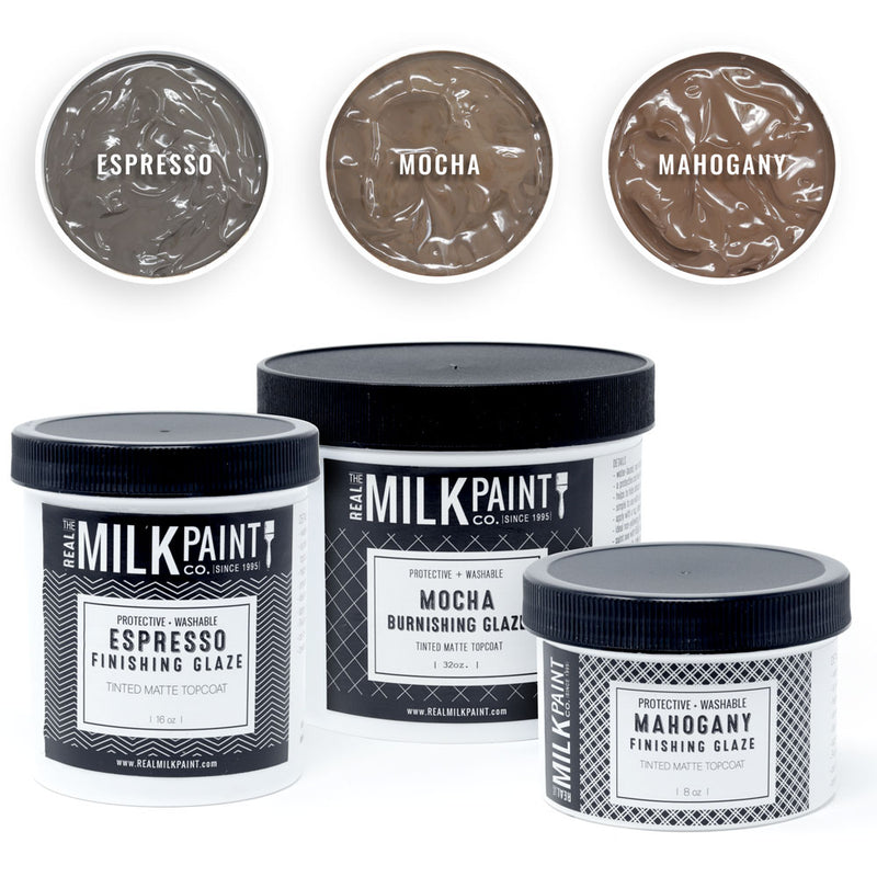 Real Milk Paint Finishing Glazes - 8 ounces