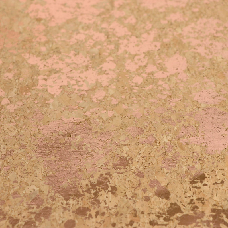 Sallie Tomato PRO Lite Cork Fabric- PRO Lite Natural Rose Gold Splatter - Eco-Friendly Vegan Faux Leather
