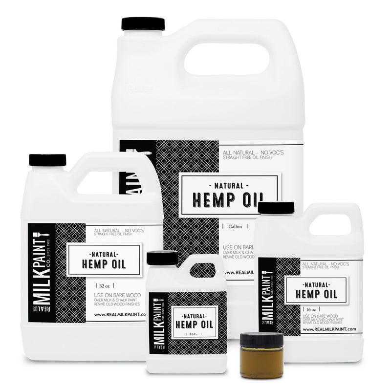 Real Milk Paint Natural Hemp Oil - 8 ounces
