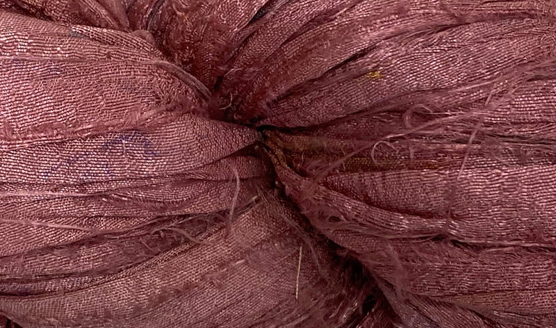 Recycled Sari Silk Ribbon - Rose