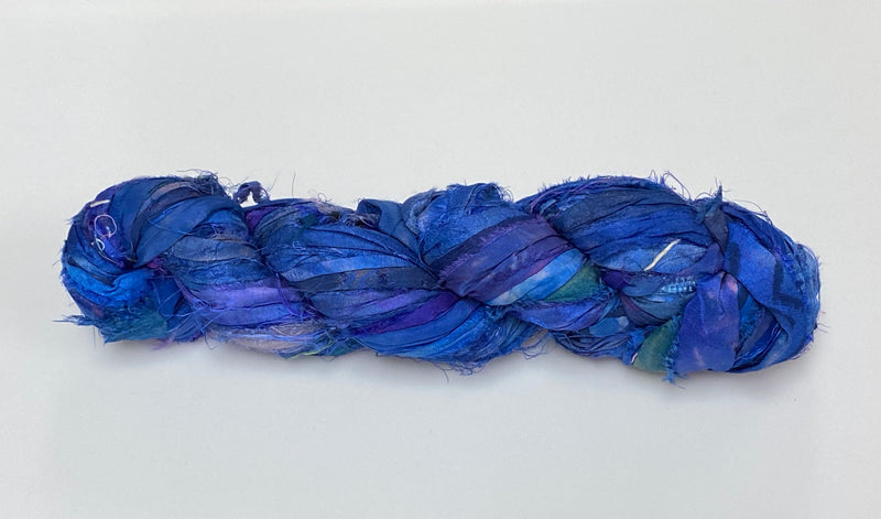Recycled Sari Silk Ribbon -Shibori