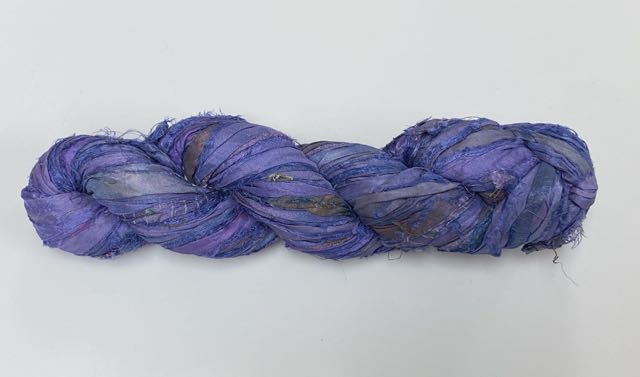 Recycled Sari Silk Ribbon - Purple Haze