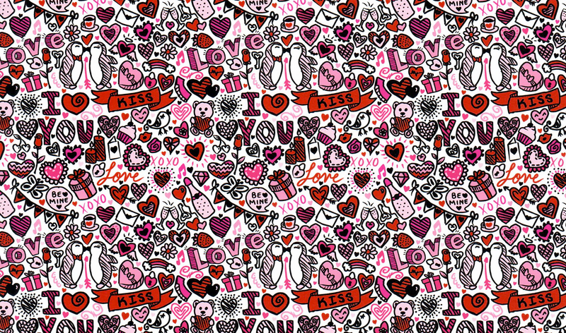 Love Doodles Heat Transfer Vinyl and Carrier Sheet