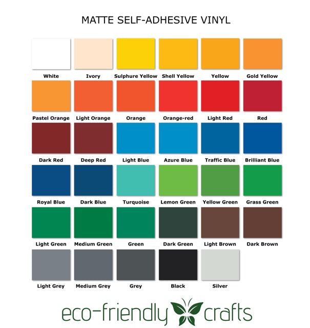 PVC-free Self Adhesive Vinyl - Removable Matte - 12 in x 12 in Sheet