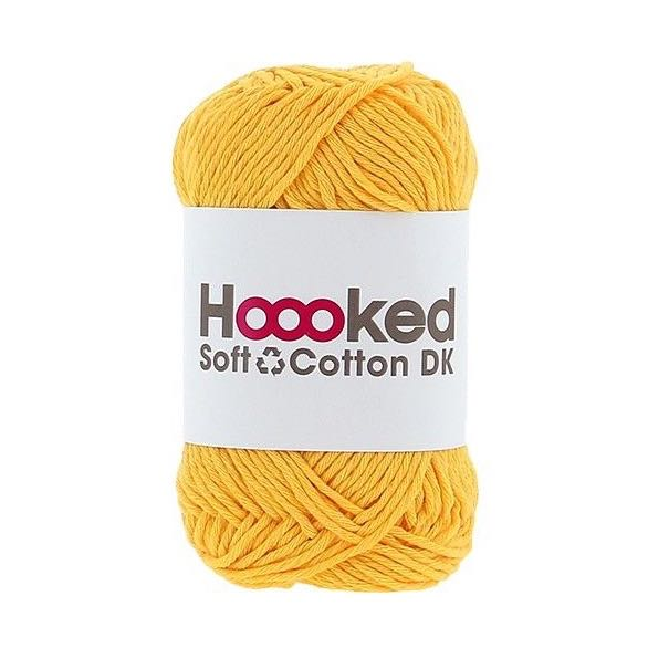 Hoooked Recycled Soft Cotton DK Yarn for Amigurumi, Crochet, and Knitting