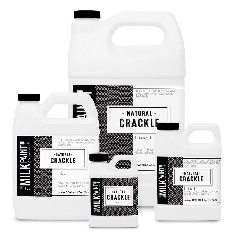 Real Milk Paint Natural Crackle - 8 ounces
