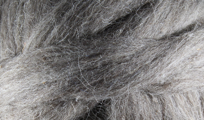 Wool Roving - 1oz - Natural Gray