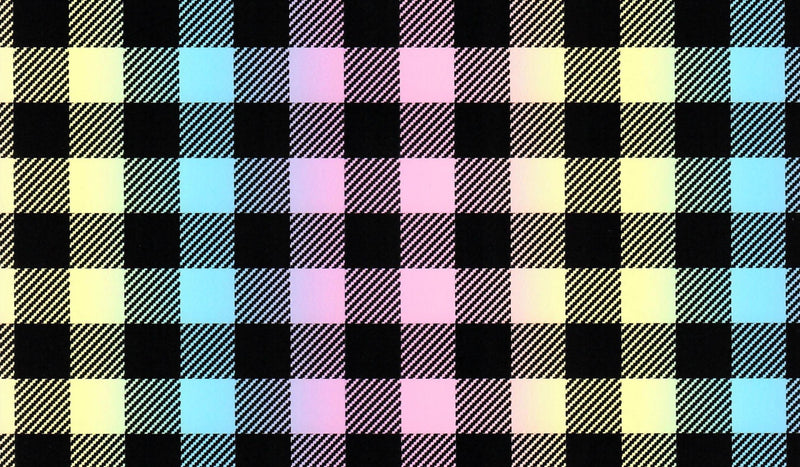 Pastel Fade Buffalo Plaid Pattern Heat Transfer Vinyl