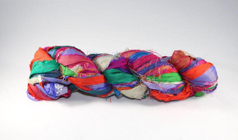 Recycled Sari Silk Ribbon - Multicolor