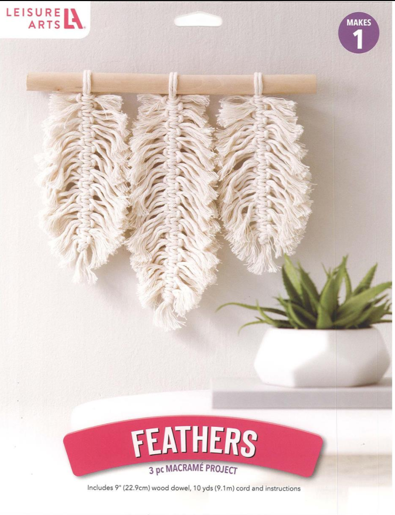 Leisure Arts Mini Maker Kit Macrame Feathers