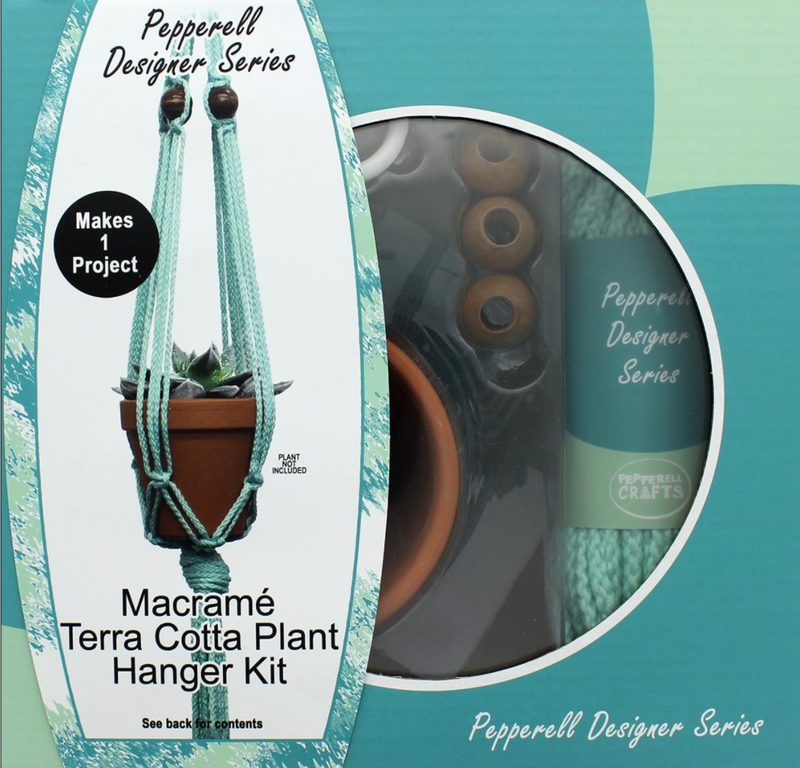 Macrame Kit - Designer Plant Hanger with Terra Cotta Pot