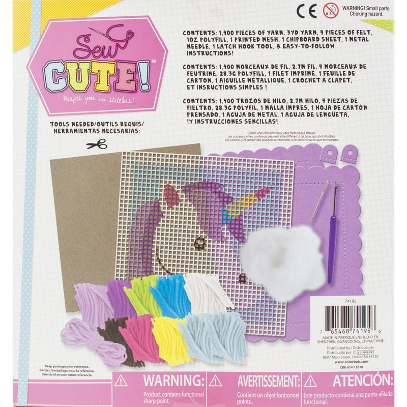 Sew Cute Latch Hook Kit - Unicorn