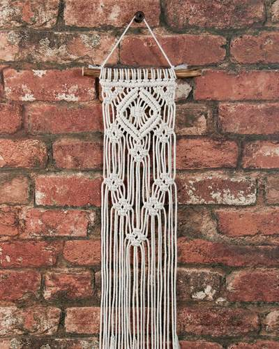Solid Oak Make-ramé™ Mini Kit - Lacy Diamonds Macrame Kit