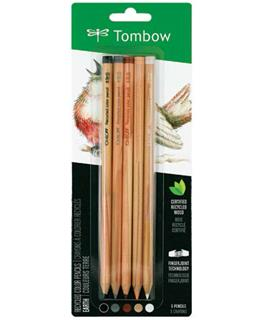 Recycled Tombow Color Pencil Set Earth Colors - Five Piece Fine Art Set