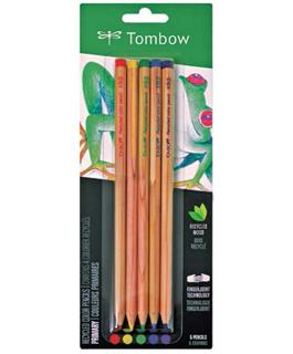 Recycled Tombow Color Pencil Set Primary Colors - Five Piece Fine Art Set