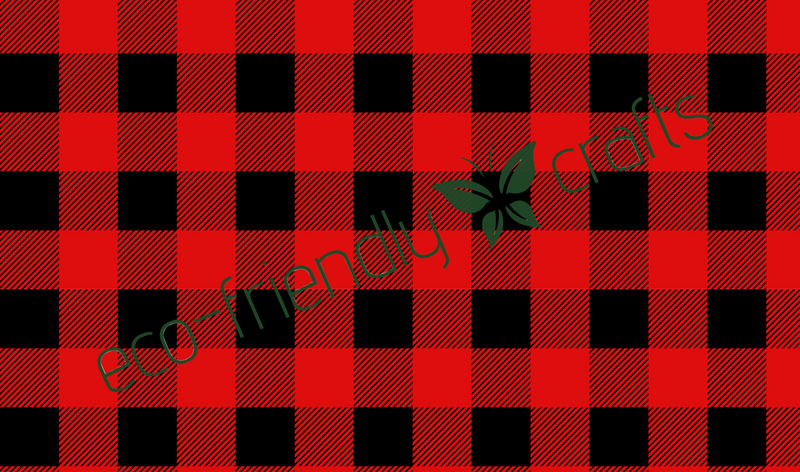 Red Buffalo Plaid Adhesive Vinyl - PVC-Free Laser Safe PSV