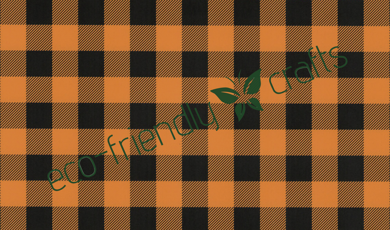 Pumpkin Orange Buffalo Plaid Adhesive Vinyl - PVC-Free Laser Safe PSV
