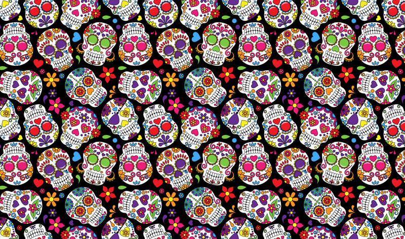 Día de Muertos Sugar Skulls Heat Transfer Vinyl and Carrier Sheet - Day of the Dead